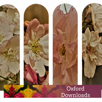 Cherry Blossom Photography Printable Bookmarks 2 - JPEG E-Mail