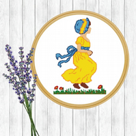Kate Greenaway Cross Stitch Pattern - ZIP, PDF E-Mail