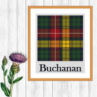 Buchanan Scottish Tartan Cross Stitch Pattern - ZIP, PDFs - E-Mail