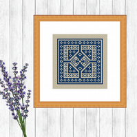 Blue Dutch Cross Stitch Patter - ZIP, PDF - E-Mail