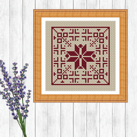 Red Dutch Cross Stitch Pattern - ZIP, PDF - E-Mail
