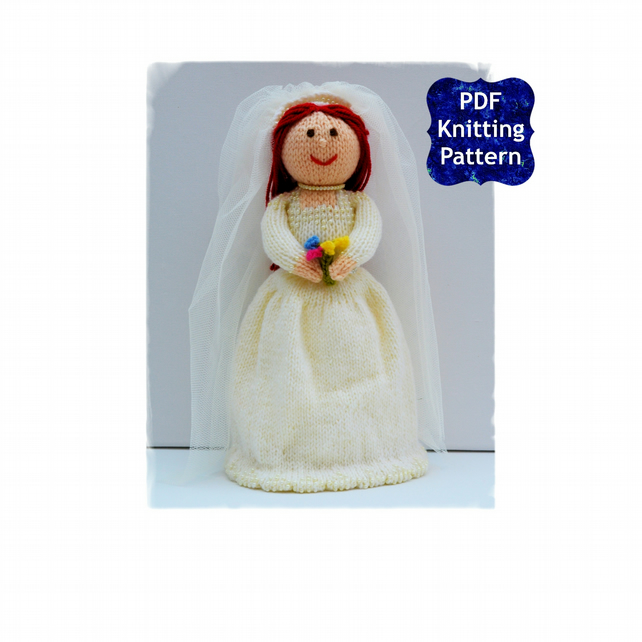 Bride Doll - Knitting Pattern - PDF E-mail