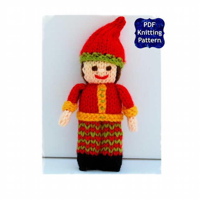 Christmas Elf Doll - Knitting Pattern - PDF E-Mail
