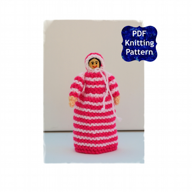 Victorian Peg Doll - Easy Knitting Pattern - PDF E-Mail