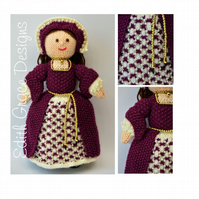 Catherine - A Tudor Doll 1546 - Doll Knitting Pattern