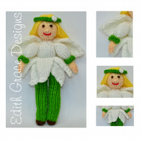 Snowdrop Fairy Doll Knitting Pattern