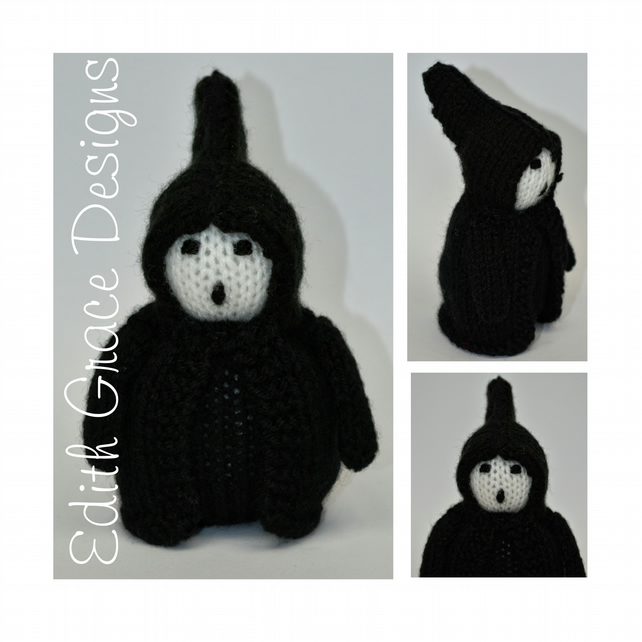 Ghost of Christmas Future Doll Knitting Pattern