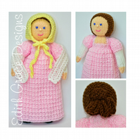 Caroline A Georgian Doll 1808 - Doll Knitting Pattern
