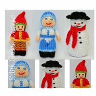 Knit Doll - Jack Frost, Snowman & Christmas Elf Doll