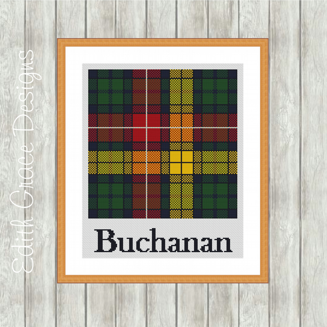 Counted Cross Stitch Pattern - Buchanan Scottish Tartan