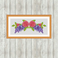 Counted Cross Stitch Pattern - Watercolour Floral Bouquet