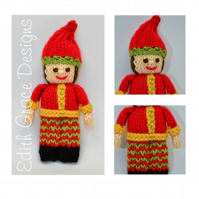 Christmas Elf Doll Knitting Pattern