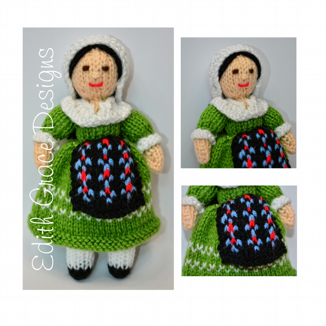 French Folk Doll Knitting Pattern