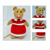 Knitted Lady Mouse Doll Knitting Pattern