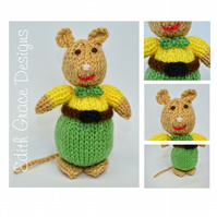 Knitted Gentleman Mouse Doll Knitting Pattern