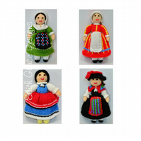 Folk Doll Knitting Patterns
