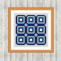 Counted Cross Stitch Pattern - Portuguese Tile Pattern