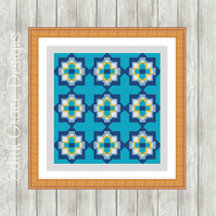 Counted Cross Stitch Pattern - Portuguese Geometric Pattern