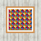Geometric Modern Art Tapestry Needlepoint Pattern
