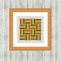 Counted Cross Stitch Pattern - Geometric Art 1