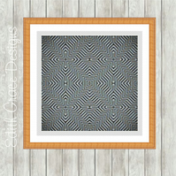 Counted Cross Stitch Pattern - Optical Illusion