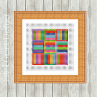 Counted Cross Stitch Pattern - Modern Geometric Art