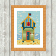 Counted Cross Stitch Pattern - Beach Hut
