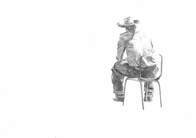 Lonely Cowboy - A4 Print