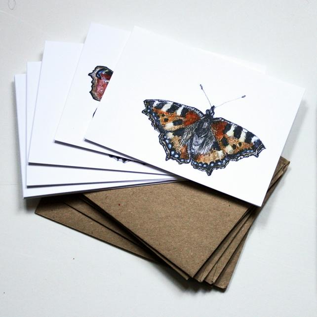 Mini Notelets Pack - 6 Butterfly Cards
