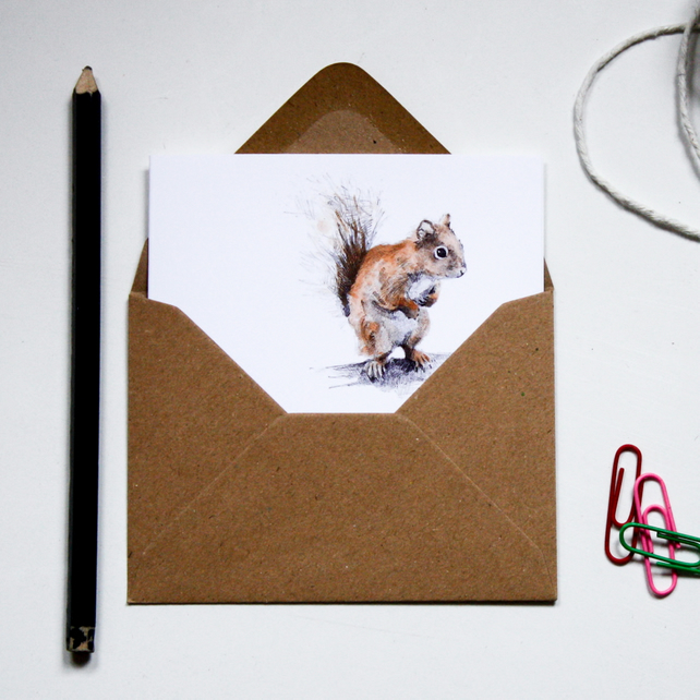 Mini Notecard Set - Animal Friends - Pack of 6