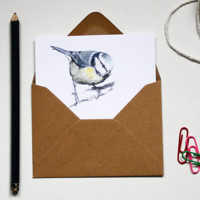 Mini Notecard Set - Garden Birds - Pack of 6