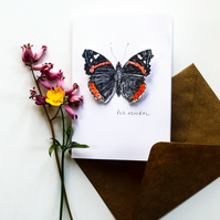 Red Admiral Butterfly - Pop Up Card
