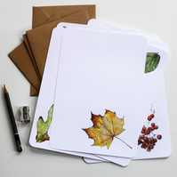 Letter Writing Set - Leaves & Trees