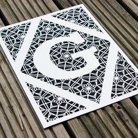 Personalised Initial Paper Cut