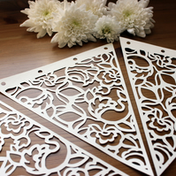 Paper Cut Lace Bunting