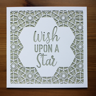 Wish upon a Star Paper Cut