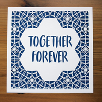 Together Forever Paper Cut