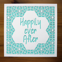 Happily ever After Paper Cut