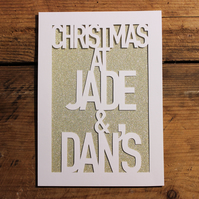 Christmas at... Personalised Paper Cut