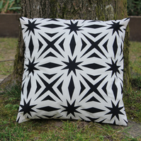 Geometric Screen Printed Cushion Cover