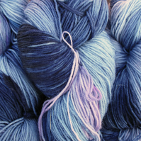 Hand-dyed Superwash 4PLY Sock Wool 100g Blues