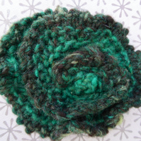 Handknit Swirl Flower Brooch Mother's Day Special