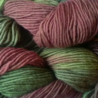 SPECIAL! Hand-dyed 100% WOOL DK-ARAN 50g