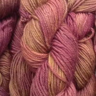 Hand-dyed 100% Wool  DK Superwash Merino blend
