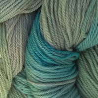 Hand-dyed 100% WOOL DK British sheep breeds Camouflage 100g