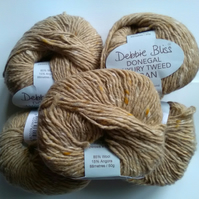 50g DEBBIE BLISS LUXURY DONEGAL ARAN TWEED in Oatmeal