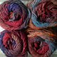 200g NORO KAMA wool silk alpaca Col 7 lot A reds purple orange