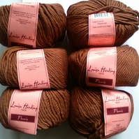50g LOUISA HARDING FLEURIS BAMBOO WOOL in Rich Brown