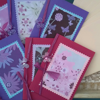 SPECIAL! 6 X BLANK LETTER CARDS Butterfly