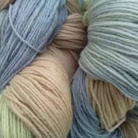 Hand-dyed Superwash 4PLY Sock Wool 100g pastels 2